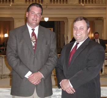 Sen. Glenn Coffee (right) and Rep. Richard Phillips, authors of HB 1081