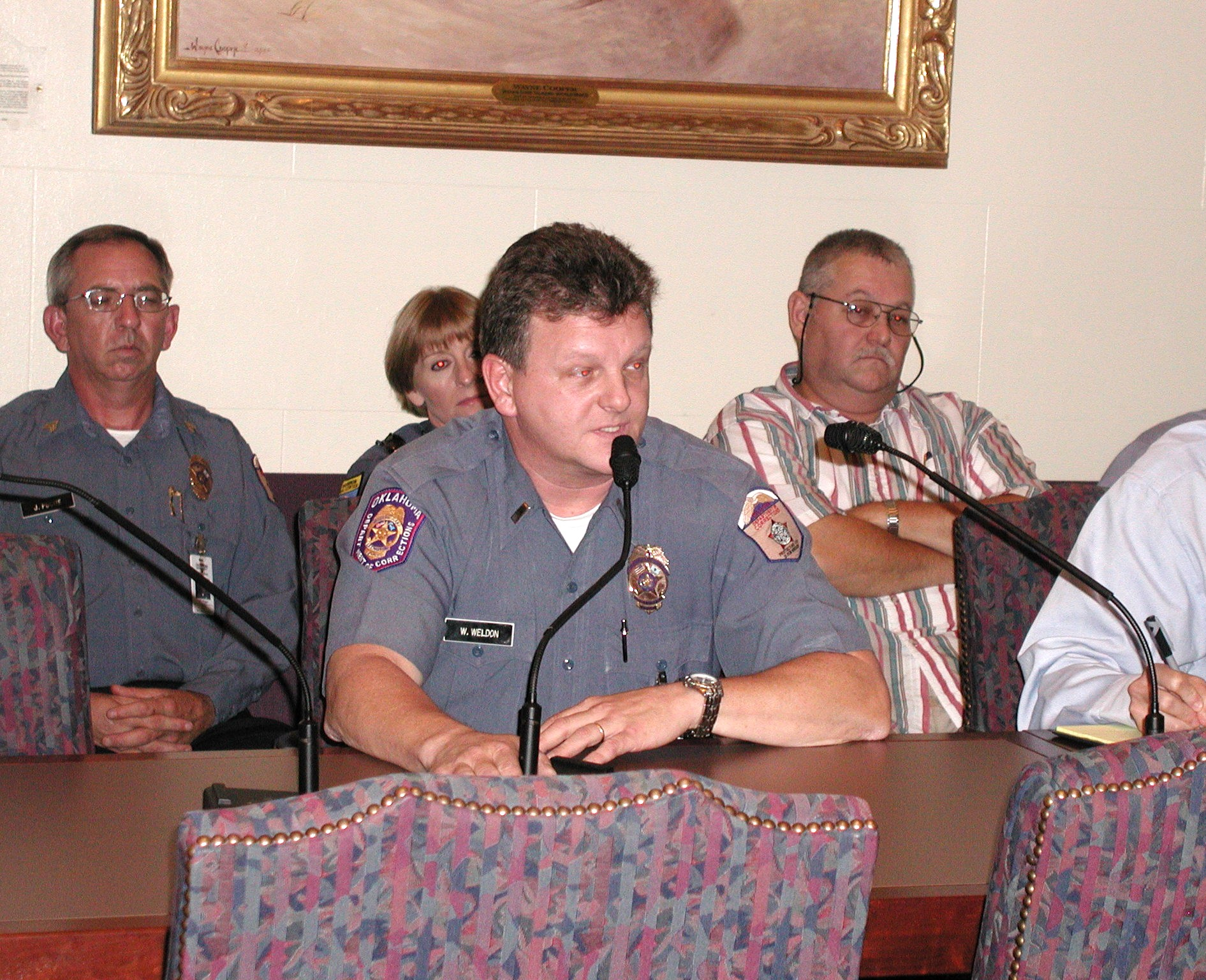 Lt. William Weldon from Joseph Harpe Correctional Facility testifies before the Senate Appropriations Subcommittee on Public Safety and Judiciary.