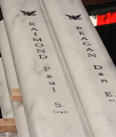 Marble Markers for USS Oklahoma Memorial