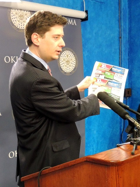 Sen. Holt compares national Black Friday ad to Oklahoma version.