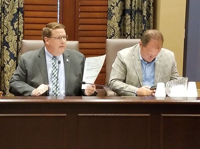 Co-Chairs of the Medical Marijuana Working group Sen. Greg McCortney and Rep. Jon Echols.