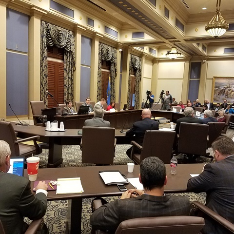 Legislative members discuss priorities for medical marijuana testing Wednesday at the Capitol.